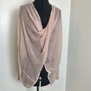 All Saints Open Knit Twist Front Light Sweater
